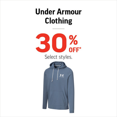Under Armour Clothing 30% Off* Select Styles.