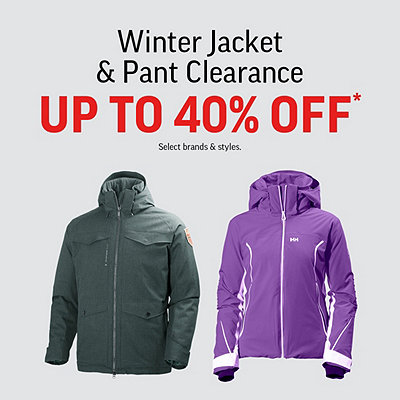 Men's, Women's & Kids' Winter Jackets & Pants Clearance up to 40% Off*