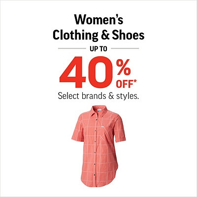 Women's Clothing & Shoes Up To 40% Off*