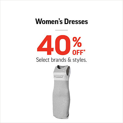 Women's Dresses 40% Off*