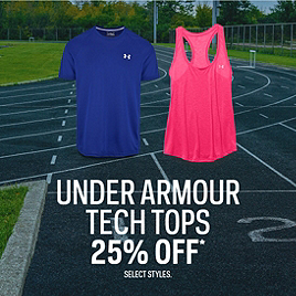 Under Armour Tech Tops 25% Off