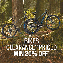 Bikes Clearance* Priced