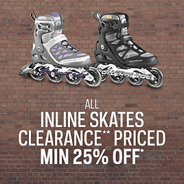 Inline Skates Clearance* Priced