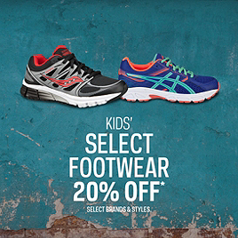 Kid's Select Footwear 20% Off