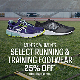 Men's & Women's Select Running & Training Footwear 25% Off