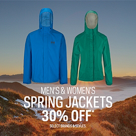 Select Spring Jackets 30% Off