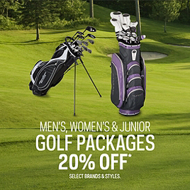 Men's, Women's, and Junior Golf Package Sets 20% Off*