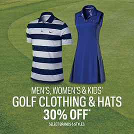 Select Golf Clothing 30% Off