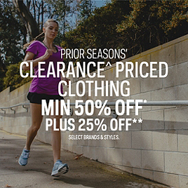 Prior Seasons' Clearance* Priced Clothing