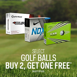 Select Golf Balls Buy Two Get One Free*