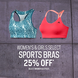 Select Sports Bras 25% Off