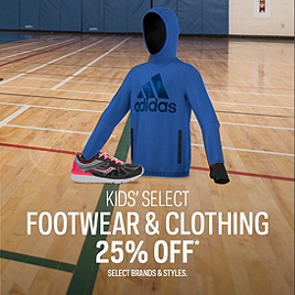 Kids' Select Clothing & Footwear 25% Off