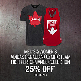 Adidas Canadian Olympic Team High Performance Collection 25% Off