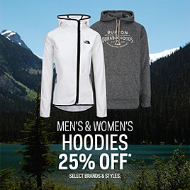 Select Hoodies 25% Off