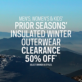 Select Prior Seasons' Insulated Winter Outerwear Clearance