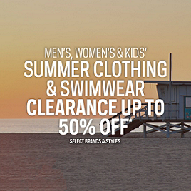 Summer Clothing & Swimwear Clearance