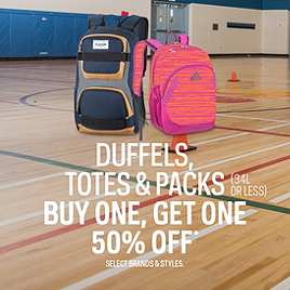 Duffels, Totes & Packs (34L or less) Buy One, Get One 50% Off
