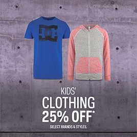 Kids' Clothing 25% Off