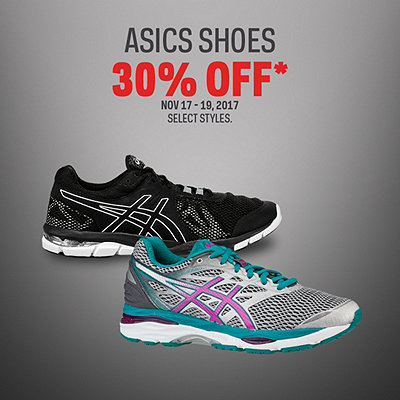 Select ASICS Shoes 30% Off*