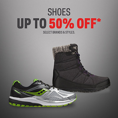Select Shoes up to 50% Off*
