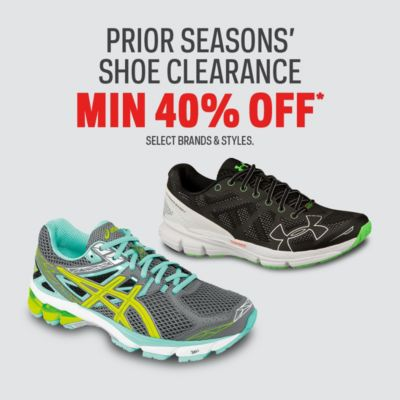 Prior Season's Shoe Clearance Min 40% Off
