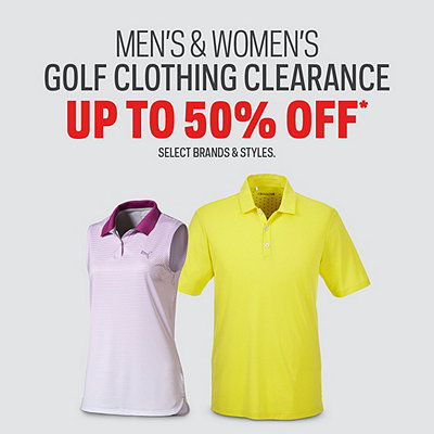 Men's & Women's Golf Apparel Clearance Up To 50% Off*