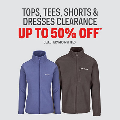 Men's & Women's Select Tops, Tees, Shorts & Dresses Clearance Up To 50% Off*