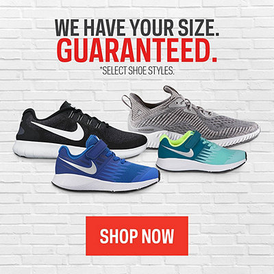 Footwear Size Guarantee