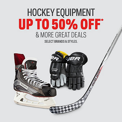 Hockey Equipment Doorcrashers up to 50% Off*