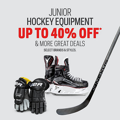 Junior Hockey Equipment Doorcrashers up to 40% Off*