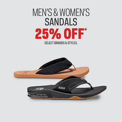 Select Sandals 25% Off*