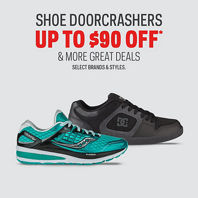 Shoe Doorcrashers up to $90 Off*
