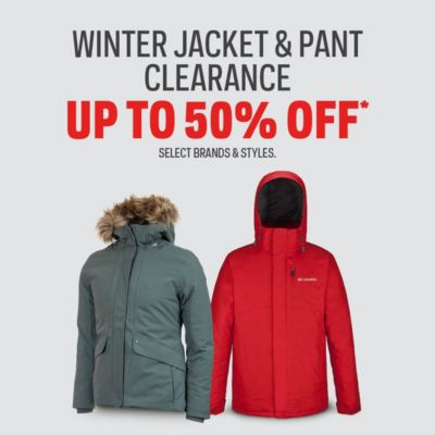 Winter Jacket & Pant Clearance Up to 50% Off