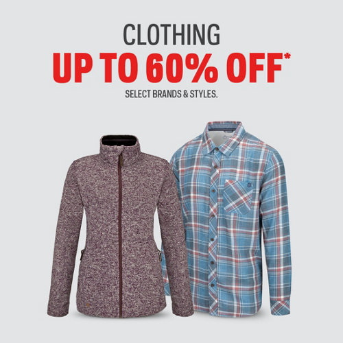 Clothing up to 60% off