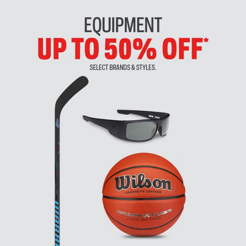 Equipment up to 50% off