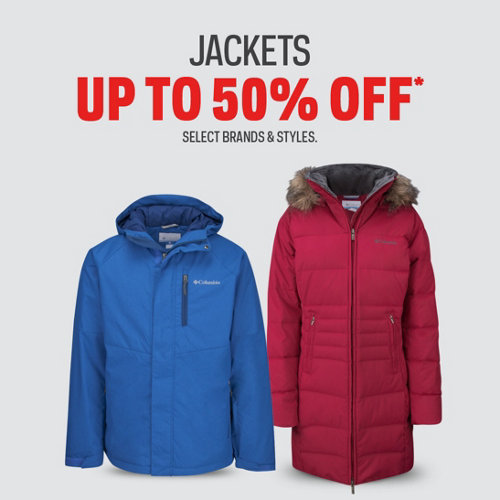 Jackets up to 50% off