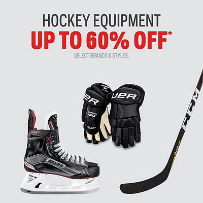 Hockey Equipment Select Deals up to 60% Off*