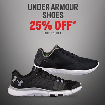 Select Under Armour Shoes 25% Off*