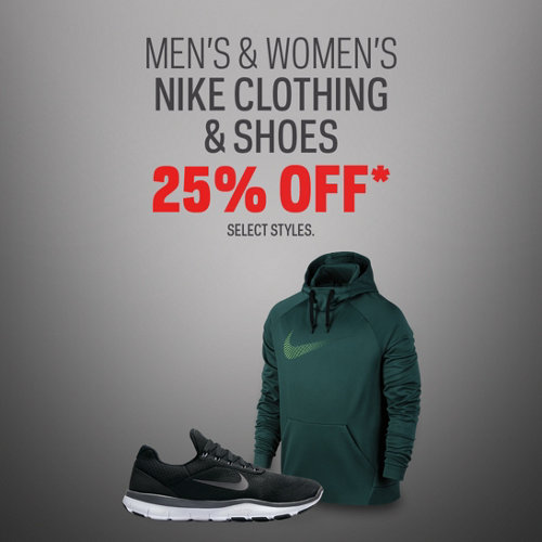 Nike Clothing & Shoes 25% Off