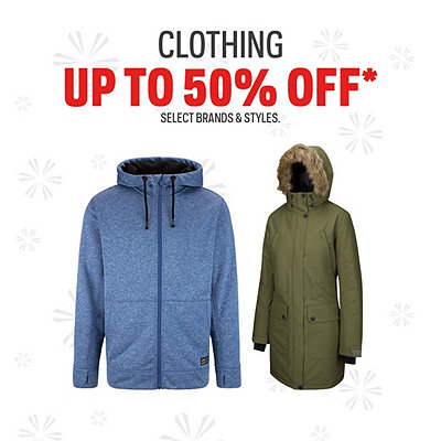 Clothing up to 50% Off