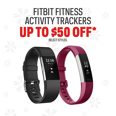 Fitbit Activity Trackers Up to $50 Off*
