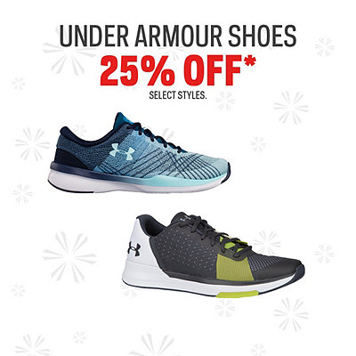Under Armour Shoes 25% Off*
