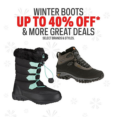 Winter Boot Deals up to 40% Off*