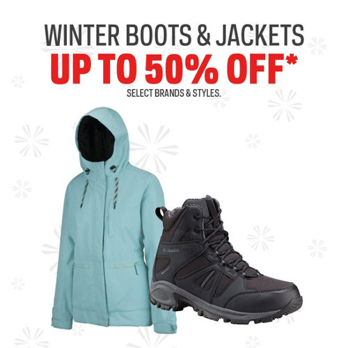 Winter Jackets & Boots up to 50% Off
