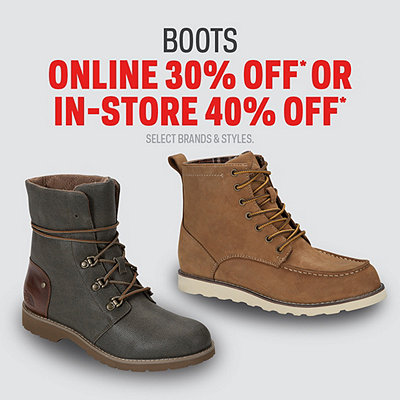 Select Boots 30% Off*