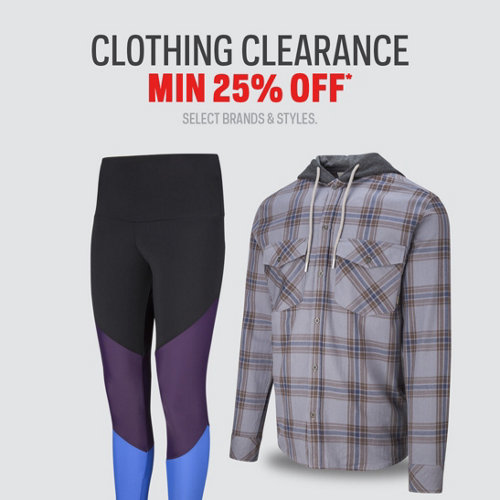 Clothing Clearance Min 25% Off