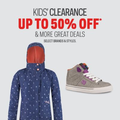 Kids' Clearance Up to 50% Off* and More Great Deals