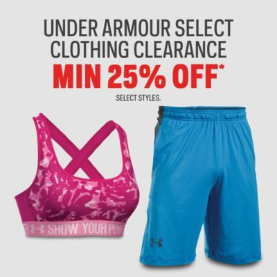Select Under Armour Clothing Clearance Min. 25% Off*
