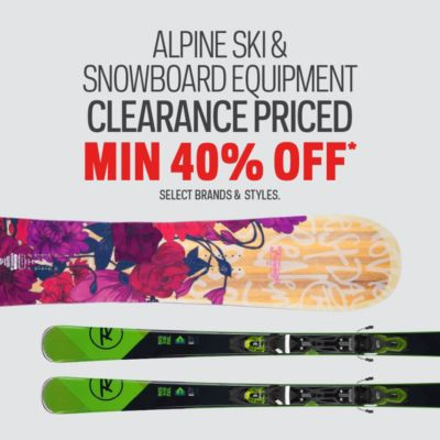 Alpine Ski & Snowboard Equipment Clearance Priced Min. 40% Off*