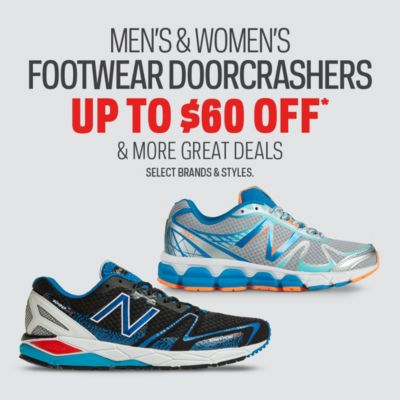 Men's & Women's Footwear Doorcrashers Up to $60 Off* and More Great Deals
